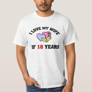 I love my Wife of 10 Years Tee Shirt