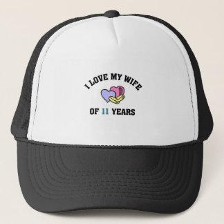 I love my wife of 11 years trucker hat