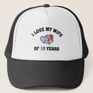 I love my wife of 19 years trucker hat