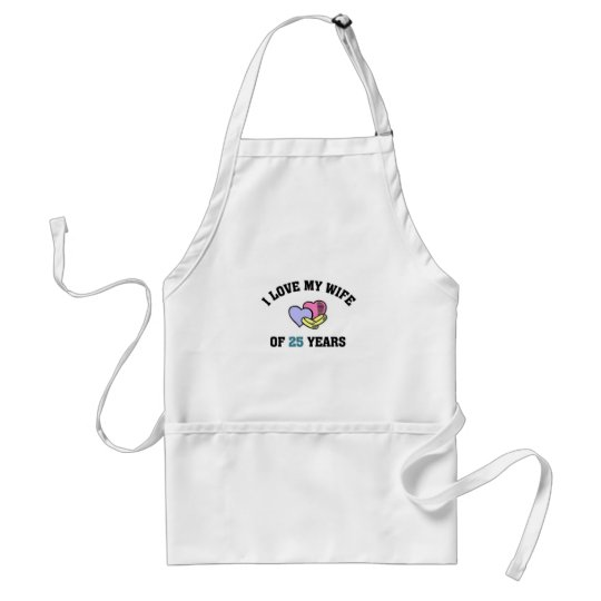 I love my wife of 25 years adult apron
