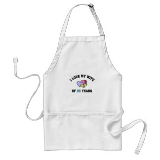 I love my wife of 25 years apron