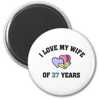 I love my wife of 37 years refrigerator magnet