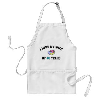 I love my wife of 40 years adult apron
