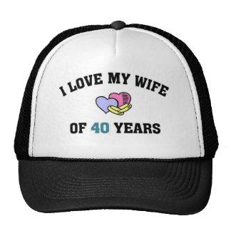 I love my wife of 40 years mesh hats