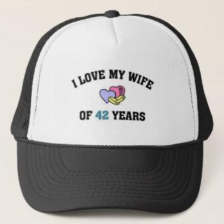 I love my wife of 42 years trucker hat