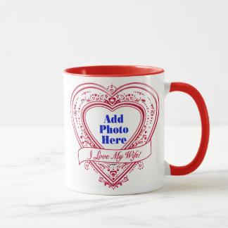 I Love My Wife! - Photo Red Hearts Mug