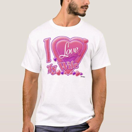 I Love My Wife pink/purple - heart T-Shirt