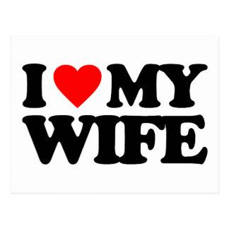I LOVE MY WIFE POSTCARD