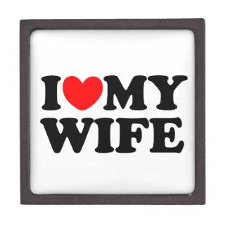 I Love My Wife Premium Jewelry Boxes