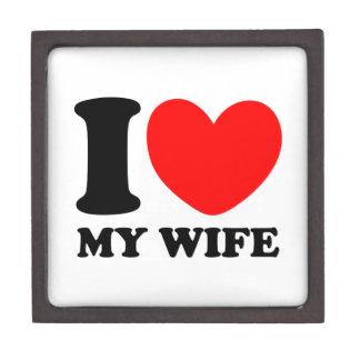 I Love My Wife Premium Trinket Box