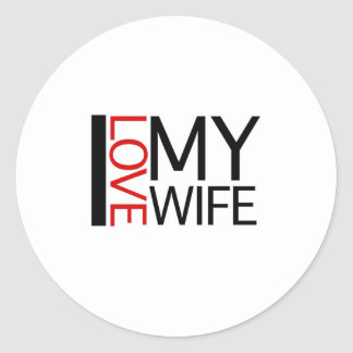 I Love My Wife (red light special) Classic Round Sticker