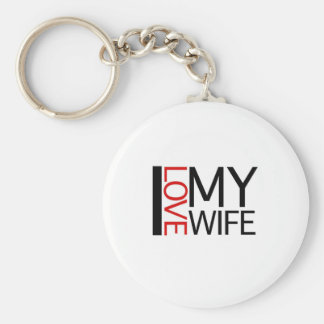 I Love My Wife (red light special) Keychain