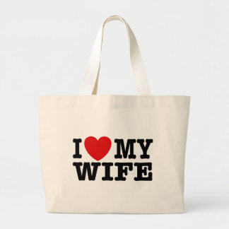 I Love My Wife Tote Bags