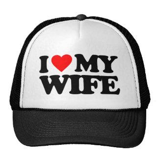 I LOVE MY WIFE TRUCKER HAT