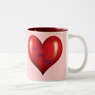 I Love My Wife Two-Tone Coffee Mug