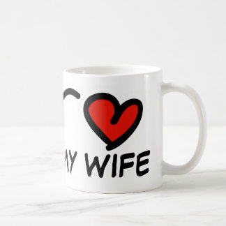 I love my wife Valentines Day mug with heart