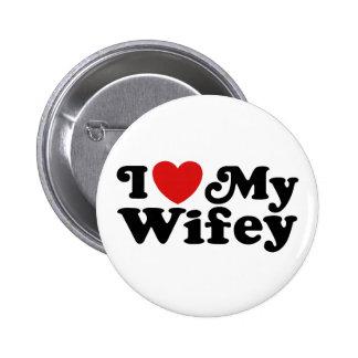I Love My Wifey Pinback Button