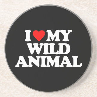 I LOVE MY WILD ANIMAL COASTER