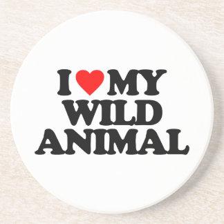 I LOVE MY WILD ANIMAL COASTERS