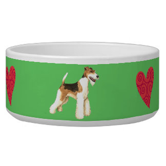 I Love my Wire Fox Terrier Bowl
