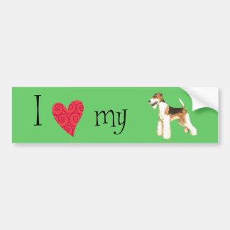 I Love my Wire Fox Terrier Car Bumper Sticker
