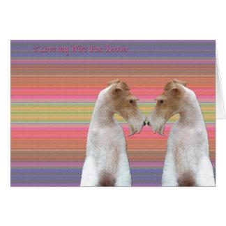 I Love my Wire Fox Terrier Card