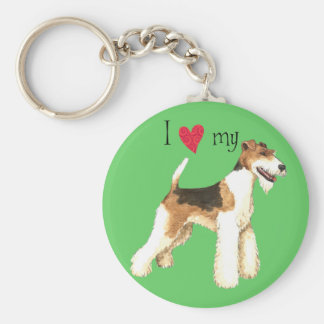 I Love my Wire Fox Terrier Keychain
