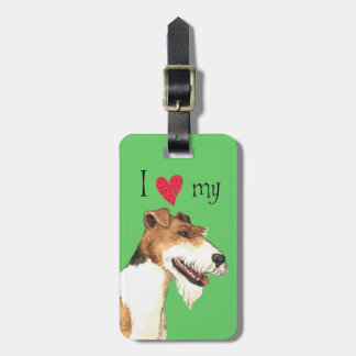 I Love my Wire Fox Terrier Luggage Tag