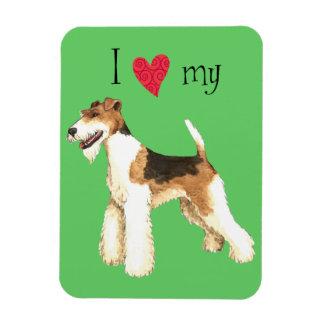 I Love my Wire Fox Terrier Magnet