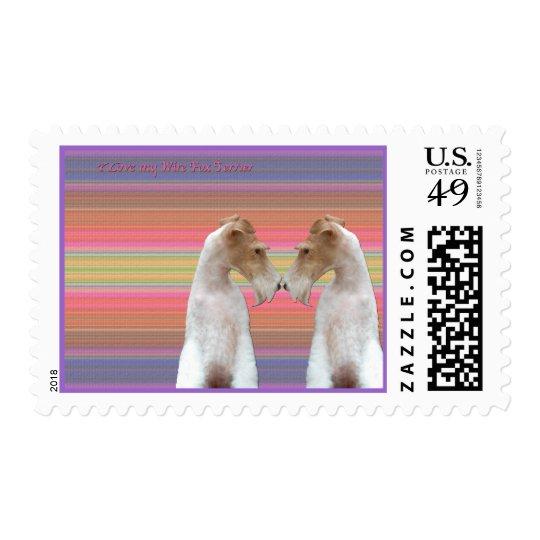 I Love my Wire Fox Terrier Postage