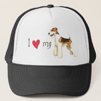I Love my Wire Fox Terrier Trucker Hat