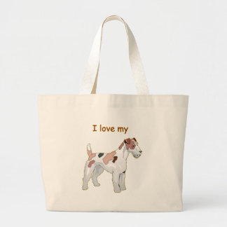 I Love My Wirehair Fox Terrier Tote Bags