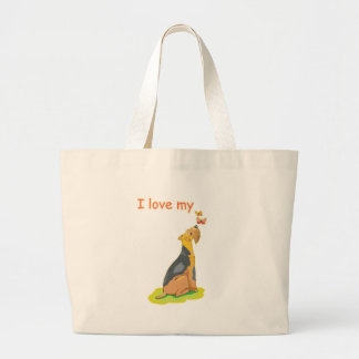 I Love My Wirehair Fox Terrier Tote Bag