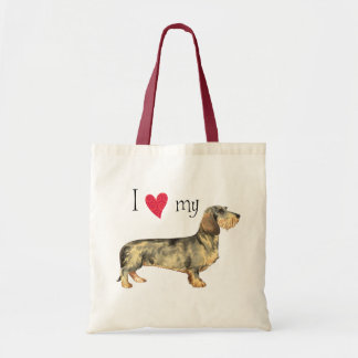 I Love my Wirehaired Dachshund Budget Tote Bag