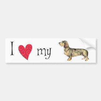 I Love my Wirehaired Dachshund Bumper Sticker