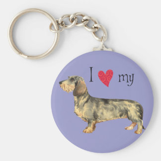 I Love my Wirehaired Dachshund Keychain