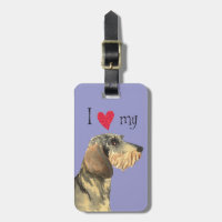 I Love my Wirehaired Dachshund Luggage Tag