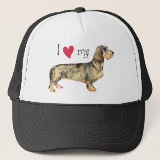 I Love my Wirehaired Dachshund Trucker Hat