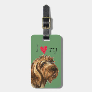 I Love my Wirehaired Pointing Griffon Bag Tag