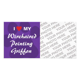 I Love My Wirehaired Pointing Griffon Card