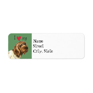 I Love my Wirehaired Pointing Griffon Label