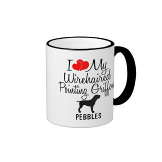 I Love My Wirehaired Pointing Griffon Ringer Mug