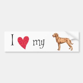 I Love my Wirehaired Vizsla Bumper Sticker
