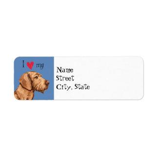 I Love my Wirehaired Vizsla Return Address Label