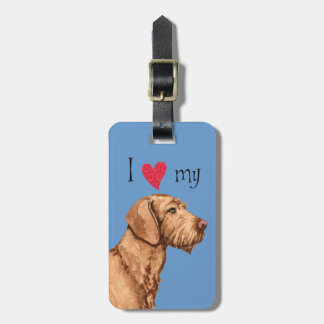I Love my Wirehaired Vizsla Bag Tag