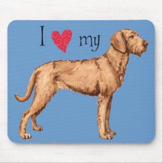 I Love my Wirehaired Vizsla Mouse Pad