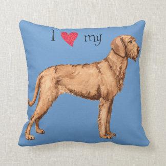 I Love my Wirehaired Vizsla Throw Pillow