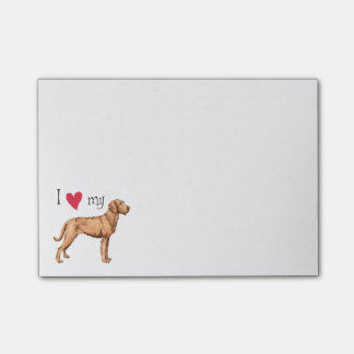 I Love my Wirehaired Vizsla Post-it® Notes