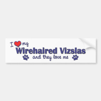 I Love My Wirehaired Vizslas (Multiple Dogs) Car Bumper Sticker
