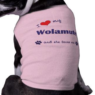 I Love My Wolamute (Female Dog) Dog T Shirt